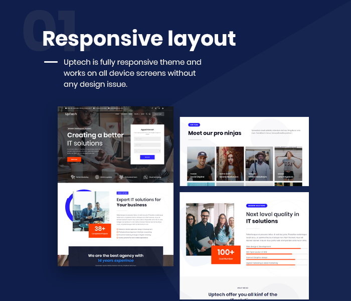 Uptech -  IT Solutions & Services WordPress Theme - 5